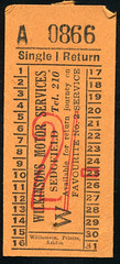 ticket - wilkinsons sedgfield two shillings (johnmightycat1) Tags: bus ticket