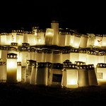 Cold Christmas Night in a candlelit cemetery. thumbnail
