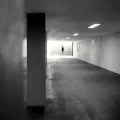 Ghost, Exiting (ucn) Tags: filmdev:recipe=11535 fomafomapan100 film:brand=foma film:name=fomafomapan100 film:iso=100 adoxfx39 weltaweltax tessar street ghost undergroundstation ubahnhof