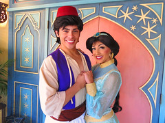 Aladdin and Princess Jasmine (meeko_) Tags: aladdin prince jasmine princess princessjasmine characters disneycharacters agrabahbazaar adventureland magic kingdom magickingdom themepark walt disney world waltdisneyworld florida