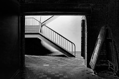 OUT OF DARKNESS (panache2620) Tags: bw tunnel contrasts silence eerie indoors inside city urban minenapolis minnesota alone eos canon art fineart candid noflash