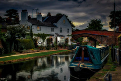 Life on the Towpath (Kev Walker ¦ Trying to Catch Up!) Tags: lymm canal bridgewatercanal barge bridge britishculture water waterways clouds architecture canon1855mm