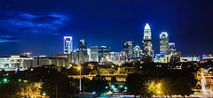 Downtown Charlotte (Explore 8/13/2017) (ArmyJacket) Tags: charlotte nc northcarolina queencity 2017 pga pgachampionship golf city downtown urban landscape buildings skyscrapers bluehour nightphotography longexposure skyline