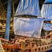 Model of Vasa vessel at Vasamuseet - Stockholm Sweden