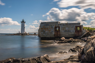 Fort Constitution, and the Portsmouth Harbor Lighthouse