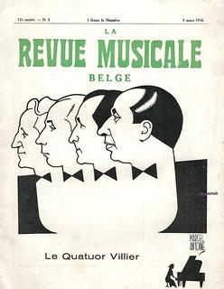 QUATUOR VILLIER, REVUE MUSICALE BELGE, 1936