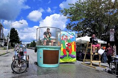 Hampdenfest, Baltimore, 2017 (A CASUAL PHOTGRAPHER) Tags: festivals hampdenfest bicycles tricycles dunkingbooth clowns