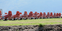 Tails - line up of T-34C's at 309th AMARG (C.Dover) Tags: 2017 309thamarg amarg boneyard dmafb davismonthanafb t34c tails usnavy