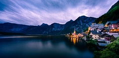 Hallstatt  Classics IV Austria (K.H.Reichert) Tags: hallstatt night nacht colours landschaft church see himmel mountains berge berg lake nightshot langzeitbelichtung austria gebirge kirche dämmerung unesco salzkammergut reflection travel natur longexposure spiegelung reise gmunden dorf village wasser farben oberösterreich österreich at