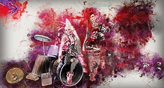 Forever 1980 (Duchess Flux) Tags: rewind uber collabor88 thereafter fantasygachacarnival chapterfour shinyshabby whimsical curemore moonamore atomic astralia deetalz lepoppycock mina glamaffair lelutka jian oblee isuka secondlife punk punkrock sl