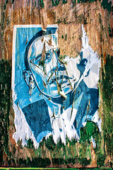 Troubled Times (Tim Pohlhaus) Tags: poster stenciled hope obama portrait president street america baltimore city