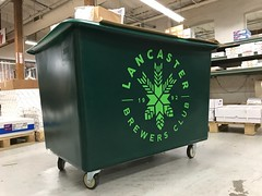 Vinyl Decals on Large Cart (The H&H Group) Tags: sign signs signage vinyl decal cart brewing kegs homebrew club branding marketing