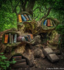 Spooky Library in the Woods (martin.baskill) Tags: woodland sculpture trees spooky ethereal library spells books superstition