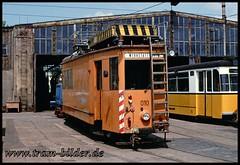 010-1992-05-24-2-Betriebshof (steffenhege) Tags: thüringerwaldbahn gotha arbeitswagen tram strasenbahn 010