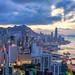 Hong Kong City skyline at sunset