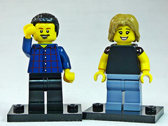 Brick Yourself Custom Lego Figure  Happy Couple