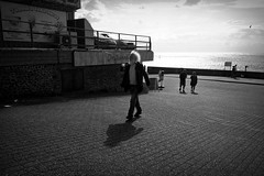 Best Foot Forward (Chris Goodacre) Tags: chrisg35mm hunstanton eastcoast mobilephonecamera android motog4 street monochrome photoscape