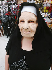 Nunning Around (PhotoJester40) Tags: indoors inside female nun costume mask halloween amdphotographer amanda posing