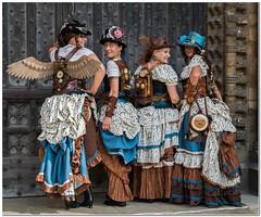 The Liechtensteams backpackers (Hugh Stanton) Tags: ladyannliechtensteam appicoftheweek steampunk asylum festival lincoln august 2017 asylumsteampunkfestivallincolnaugust2017