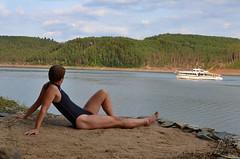 Koupání na Orlíku (035) (mermanpetleotard) Tags: plavky jednodílné onepiece swimsuit swimwear einteiligen badeanzug badeanzüge maillots de bain lycra spandex leotard trikot