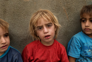 Amazing eyelashes ! I met these 3 brothers in a refugee camp in Iraq.