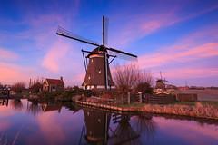 20150305-Canon EOS 6D-9315 (Bartek Rozanski) Tags: zevenhuizen zuidholland netherlands holland greenheart groenehart groene hart windmill grondzeiler sunset dramatic polder engineering