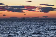 Ferry Headed For Reykjavik, Iceland (wyojones) Tags: iceland lighthouse beach grótta seltjarnarnestown reykjavik spit seltjarnarnespeninsula northatlantic faxaflóibay björk stonemilker musicvideo wyojones