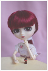 Cola (Dragonella~) Tags: pullip miyuki bloody red hood bloodyredhood pullipbloodyredhood pullipmiyuki obitsu pullipobitsu doll rewigged pink dragonella nikon d5100 pullipdoll