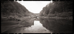 Cheat River Narrows (DRCPhoto) Tags: zeroimage612b pinhole lenslessphotography kodakbw400cn 120film cheatriver westvirginia