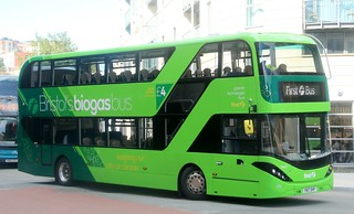 First West of England Biogas Bus 39401 YN17OHP in Bristol City Centre.