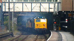 "Network Southeast Class 50 50017 ""Royal Oak"" accelerates through Kings Norton (Oz_97) Tags: kingsnorton britishrail colasrailfreight networksoutheast 50017 50050 56049"