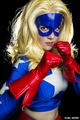 Seeing Stars... (Ring of Fire Hot Sauce 1) Tags: cosplay toriacostuming stargirl portrait blonde sandiegocomiccon sdcc