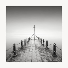 Looking ahead (GlennDriver) Tags: black white bw mono monochrome sussex sea coast brighton hove england water no colour long exposure pier groyne