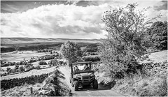 Newbiggin . (wayman2011) Tags: canon50d lightroom wayman2011 bwlandscapes mono rural farmers transport pennines dales teesdale newbiggin countydurham uk