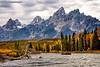 navigating the Snake River (Cottage Days) Tags: grandtetonnationalpark nationalpark wyoming landscape water rafting mountains autumn