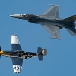 USAF Heritage Flight F-16CJ 91-0398 and P-51D 44-73029 Mustang Bald Eagle thumbnail