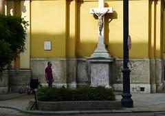 Budapest summer. Under crucifixion (rustamsad) Tags: budapest summer street streetphotography streуt stphotography stphotographia lumix leica lx5