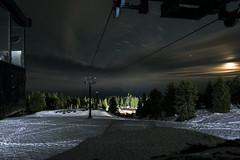 Haul Rope (Curtis Gregory Perry) Tags: timberline lodge oregon ski lift chair rope haul line cable snow skiing night longexposure mt hood bruno bunny beginner run slope nikon d810