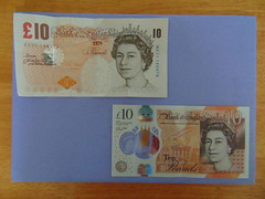 OLD & NEW £10 NOTE (Yorkshire Lass Born & Bred) Tags: