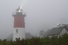 Light into the Storm (brucetopher) Tags: light lighthouse fog storm gale hurricane tropicalstorm wind rain weather damp raining humid beam sentinel navigation navigationalaid atn aidtonavigation warning