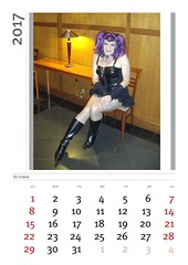 Once Upon A Time There Lived A Little Punk Girl . . . (Laurette Victoria) Tags: montage calendar october costume laurette punk halloween