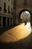 Morning shadows in Padova (Atilla2008) Tags: italy padova padua lane cobblestones lighting morning sunrise rays d90 nikon veneto