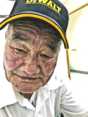 Portrait (leopc.lin) Tags: old portrait hat grandpa patinent smile iphone cell smart phoneshot elderly clinic over 90 people friend face