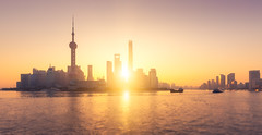 Golden hour in Shanghai ( China ) (pascal-k) Tags: asia china beautiful bright business calm chinese city citylife cityscape colorimage colors dawn day downtown downtowndistrict dusk famousplace financialdistrict huangpudistrict huangpuriver internationallandmark journey landscapeformat light lujiazui modern morning naturallight officebuilding orientalpearltower pudong river scenics shanghai shanghaitower skyline skyscraper sun sunrise thebund tranquility twilight urbanskyline yellow