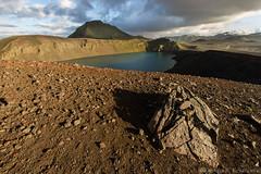 Hnausapollur (Kristinn R.) Tags: iceland volcanic crater rocks mountains landmannalaugar clouds sky