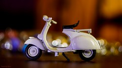 My New Toy -Vespa (YᗩSᗰIᘉᗴ HᗴᘉS +7 000 000 thx❀) Tags: vespa toy miniature bokeh bokehlicious beyondbokeh moto macro sony helios helios442 hensyasmine 7dwf
