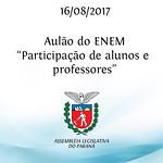 Aulão do ENEM 16/08/2017 - Alunos e Professores