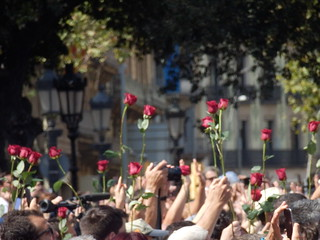 Homage to the Barcelona and Cambrils victims of terrorism