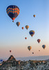 Hot Air Balloon Flying At Dawn, Göreme, Nevşehir Province, Cappadocia Region, Central Anatolia, Turkey (Feng Wei Photography) Tags: vertical asiaminor rockformation goreme cappadocia asia eastasia anatolia nationalpark capadocia turkishculture colorimage vacation dawn atmosphere turkeymiddleeast modeoftransport unesco flight adventure hotairballoon centralanatolia travel göreme transportation unescoworldheritagesite outdoors nevsehir kapadokya tourism nevşehir turkish turkey tr