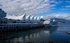 Seven Seas Mariner @ Canada Place (DCZwick) Tags: canadaplace pier warf cruise ship ocean liner burrardinlet harbour waterfront sevenseasmariner vancouver bc britishcolumbia canada pentaxk3